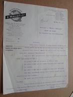 R. WALLUT & Cie Paris / 1916 Machines AGRICOLE ( Correspondance / Facture / Bon De Commande ) ! - Agriculture