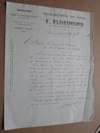 Quincaillerie En Gros F. FLORIMOND Chalon-s-Saône / 1902 ( Correspondance / Facture / Bon De Commande ) ! - France