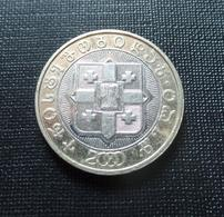 Georgia 2000 10 Lari Bi-metallic Coin 2,000th Anniversary Of The Birth Of Christ Circulated GOOD CONDITION!!! - Georgië