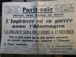 Paris-Soir 4 Septembre 19399 - Journaux - Quotidiens
