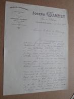 Joseph GAMBEY Chalon-s-Saône / 1901 > Comte De Carmoy ( Correspondance / Facture / Bon De Commande ) ! - France