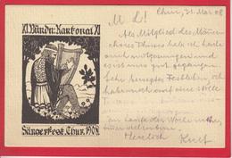 CHUR, BÜNDNER KANTONAL. SÄNGERFEST 1908 - GR Grisons