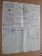 Ets. POULENC Frères - Paris / 1913 > Desplantes Flavigny ( Correspondance / Facture / Bon De Commande ) ! - France