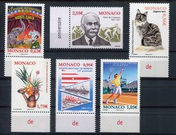 RC 8650 MONACO 2858 / 2863 TIMBRES EMIS DEBUT 2013 NEUF ** - Monaco