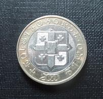 Georgia 2000 10 Lari Bi-metallic Coin 2,000th Anniversary Of The Birth Of Christ Circulated - Georgia
