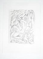 Ex-libris Moderne XXème Illustré -  Allemagne - HANNS HEEREN - Gravure Par Karl MICHEL - Bookplates