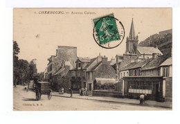 Cherbourg. Avenue Carnot. Charrette. Devanture Bourrellerie. (2707) - Cherbourg