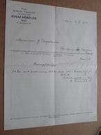 Botanische Tauschanstalt IGNAZ DÖRFLER - WIEN / 1914 > Desplantes ( Correspondance / Facture / Bon De Commande ) ! - Österreich