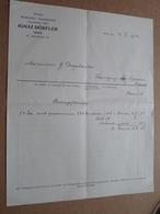 Botanische Tauschanstalt IGNAZ DÖRFLER - WIEN / 1914 > Desplantes ( Correspondance / Facture / Bon De Commande ) ! - Austria