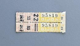 2 Billets Papier Cie DesTramways Electriques De Dijon Coll Schnabel - Tram