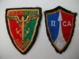 2 Ecussons Tissu Forces Françaises En Allemagne - Ecussons Tissu