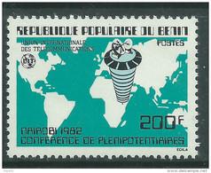 Bénin  N° 543 XX Conférence Des Plénipotentiaires De L'U.I.T. à Nairobi Sans Charnière, TB - Benin - Dahomey (1960-...)