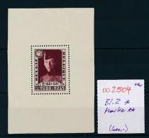 Belgien  Marke Aus Block 2  ** 110,-Michel  (oo2504  ) Siehe Scan - Blocks & Kleinbögen 1924-1960
