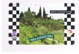 INDONESIA - TELKOM  -  PURA BESAKIH TEMPLE, BALI               - USED - RIF. 10370 - Indonesia