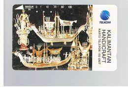 INDONESIA - TELKOM  - KALIMANTAN HANDICRAFT   - USED - RIF. 10374 - Indonesia
