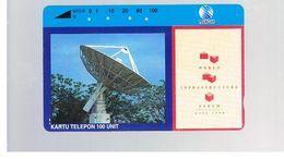 INDONESIA - TELKOM  - 1994 WIF, SATELLITE DISH  - USED - RIF. 10374 - Indonesia