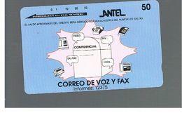 URUGUAY -   1995 CORREO DE VAZ Y FAX                                             - USED  -  RIF. 10458 - Uruguay