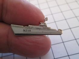 GENRE PIN'S MAIS SANS LA MOLETTE QUI SE VISSE : NAVIRE MARINE NATIONALE M715 CIRCE CHASSEUR DE MINES - Schiffahrt