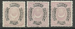 """Turkey; 1876 Duloz Stamp 10 P. """"Printing Stains"""" - 1858-1921 Ottoman Empire"""