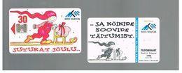 ESTONIA -  EESTI TELEFON  -   1998  CHRISTMAS - USED - RIF.10559 - Estonia