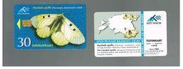 ESTONIA -  EESTI TELEFON  -   1998  BUTTERFLIES: CLOUDED APOLLO                        - USED - RIF.10563 - Estonia