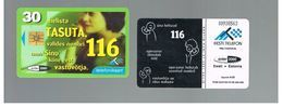 ESTONIA -  EESTI TELEFON  -   1999 CALL NUMBER 116, WOMAN             - USED - RIF.10565 - Estonia