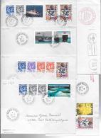 NELLE CALEDONIE - 1994 - COLLECTION CACHETS MANUELS De TOUS LES BUREAUX EN ACTIVITES - 87 LETTRES DIFFERENTES - 15 SCANS - New Caledonia