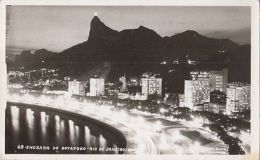 CPA RIO DE JANEIRO- BOTAFOGO BAY BY NIGHT, PANORAMA - Rio De Janeiro