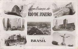 CPA RIO DE JANEIRO- PEAK, AVENUE, BOULEVARD, BEACH, JESUS MONUMENT, PANORAMA, BUSS, CAR - Rio De Janeiro