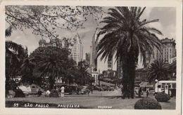 CPA SAO PAULO-SQUARE, STREET VIEW, BUSS, CAR - São Paulo