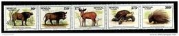 (043) Senegal  Animals / Animaux / Tiere / Dieren Strip   ** / Mnh  Michel 1389-93 ZD - Senegal (1960-...)
