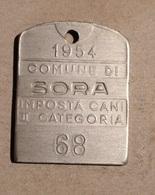 TOKEN JETON GETTONE MEDAGLIETTA IMPOSTA CANI COMUNE DI SORA 1954 - Monétaires/De Nécessité