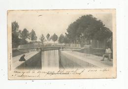 Cp, 21 , MARIGNY LE CAHOUET , Pêcheur , Le Pont , Dos Simple , écrite , Ed. J.L. - Autres Communes