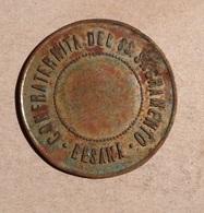 TOKEN JETON GETTONE CONFRATERNITA DEL SS. SACRAMENTO BESANA 7 - Monetary/Of Necessity