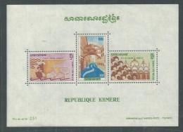 Khmère BF N°  27 XX Sauvez Venise, Le Bloc Sans Charnière, TB - Kampuchea