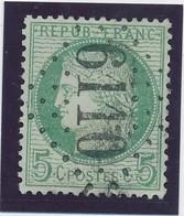 5 C Vert Obl GC 6110 (MoyenMoutier) Signé Calves TTB. - 1871-1875 Cérès
