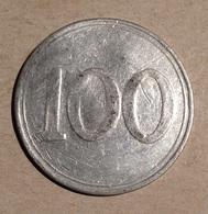 TOKEN JETON GETTONE 100 LIRE ALLUMINIO CON CONTROMARCA L. T. - Entriegelungschips Und Medaillen
