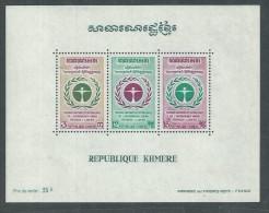Khmère BF N°  29 XX 1ère Conf. Des Nations-Unies Pour L'environnement, Le Bloc Sans Charnière, TB - Kampuchea