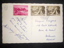 Liechtenstein Carte De Vaduz 1953 Pour Ardennes - Liechtenstein