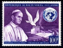 Haute Volta P.A. N° 33  X  Message De Paix Du PapePaul VI, Trace De  Charnière Sinon TB - Upper Volta (1958-1984)