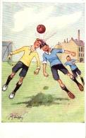 Fussball, Fussballspieler, Scherz-AK, Sign. Schönpflug, Um 1910/20 - Schoenpflug, Fritz