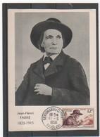 FRANCE 1956 J-H FABRE 1er JOUR - Cartoline Maximum