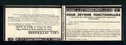 Carnet PAIX Couverture Vide Série 354 Thèmes Fonctionnaire  Candidats Fonctions Publiques Galeries Barbès - Carnets