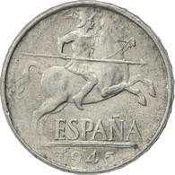 Monnaie, Espagne, 10 Centimos, 1945, SUP, Aluminium, KM:766 - [ 4] 1939-1947 : Gouv. Nationaliste