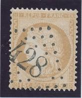 15 C Bistre Obl GC 428 (Belleherbe) TB. - 1849-1876: Période Classique