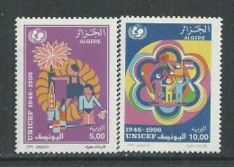 Algérie N ° 1120 / 21  XX Cinquantenaire De L'U.N.I.C.E.F.  Les 2 Valeurs Sans Charnière TB - Algeria (1962-...)
