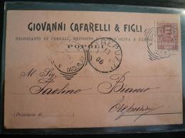 Popoli Pescara Pubblicità Usata 1906 Carta Rosa - Italia
