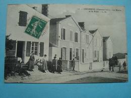 17 - Charron - La Mairie Et La Poste - L. C. - 1911 - Autres Communes