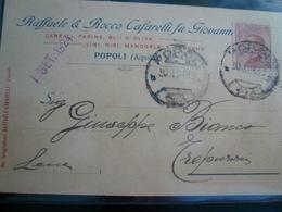 Popoli Pescara Pubblicità Usata 1924 Carta Grigia - Italia