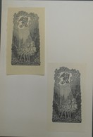 Lot De 2 Ex-libris Modernes XXème Illustrés -  Allemagne - Couple D'enfants - HEDWIG KÜNDIG - Bookplates